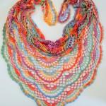 Duhový letní šátek